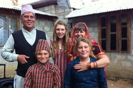 L Family Photo in Nepal